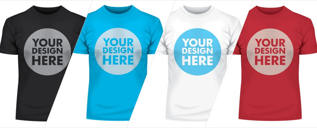 Custom designed t-shirt printing in Surrey