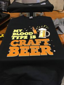 DTG Direct-to-Garment Craft Beer Shirt